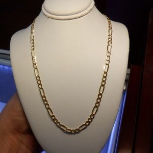 14k real solid gold Figaro Brand new chain